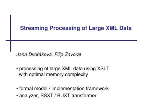 xml xslt tutorial ppt ppt stre a ming processing of large xml data powerpoint
