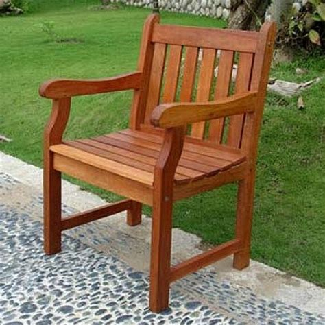 eucalyptus patio outdoor armchair