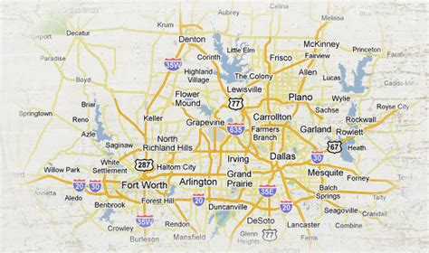 map of dallas texas and surrounding cities texas map dallas and surrounding area