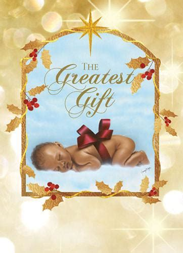 the greatest gift african american christmas card box