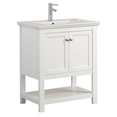30 white bathroom vanity with top fresca bradford 30 in w traditional bathroom vanity in
