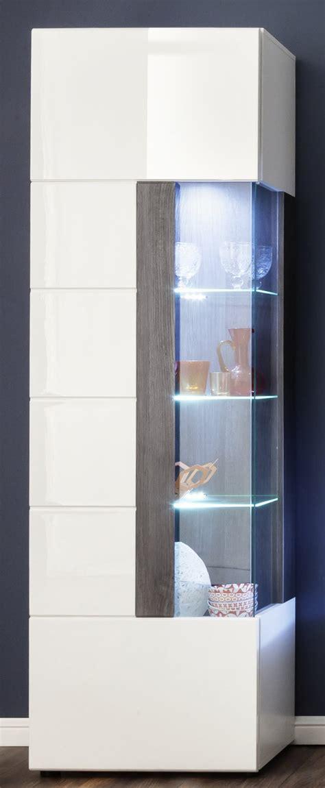 vitrine tokyo  hochglanz weiss und grau sardegna