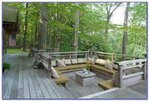 Porch Storage Bench Built In Deck Bench Seating Decks Home Decorating