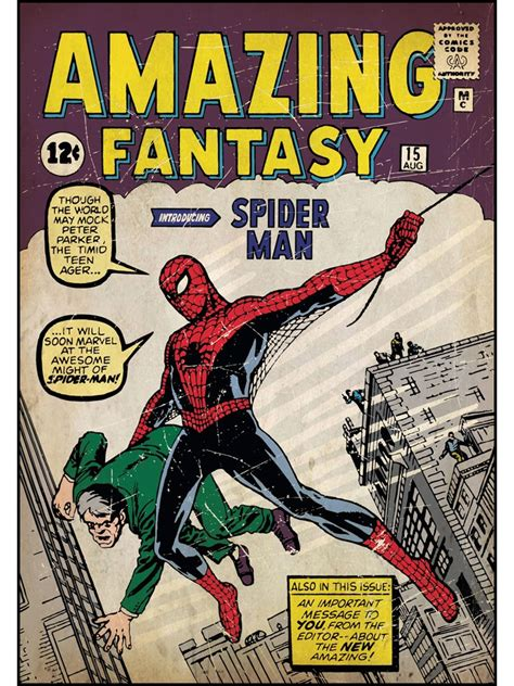 Peel And Stick Removable Wallpaper by Amazing Spiderman First Issue Comic Book Cover Wall Accent