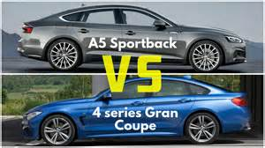 Audi A5 Coupe Vs Sportback 2017 Audi A5 Sportback Vs Bmw 4 Series Gran Coupe