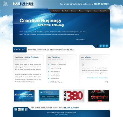design your business layout clean style business layout