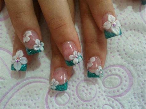 imagenes de uñas acrilicas con flores 3d 50 dise 241 os de u 241 as con flores en 3d flores acrilicas ε