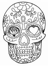imprimer ce coloriage gratuit «coloriage-tatoo-crane», cliquez