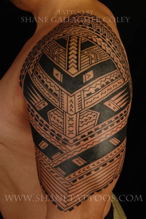 samoan full sleeve tattoo designs shane tattoos polynesian sleeve to be continued
