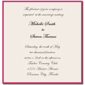 Photos wedding invitation sample templates sample invitation letter
