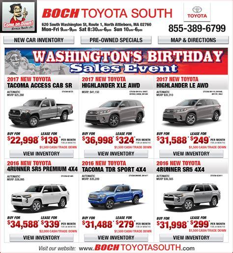 Boch Toyota South Boch Toyota South Additional Specials Attleboro Ma