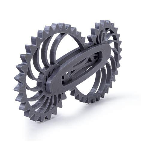 Spinner Gear leluv silver 3d printed nautilus gear engineer gizmo spinner gadget medium size brain teasers