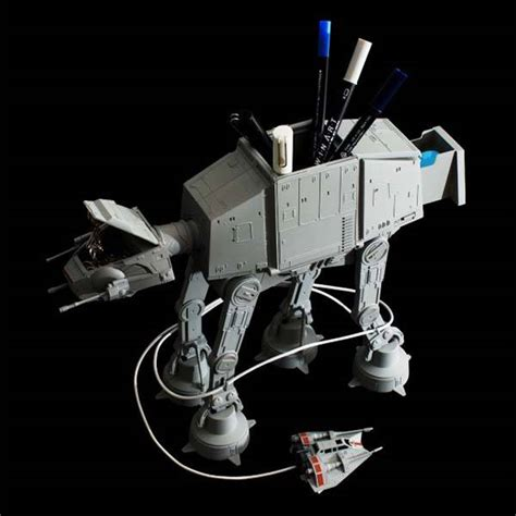 star wars desk accessories star wars at at multi stand desk organizer gadgetsin