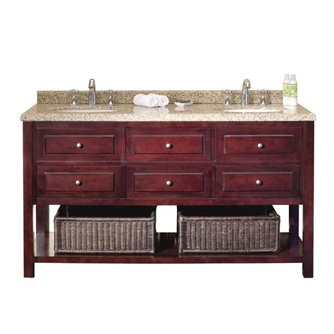 60 Vanity Top by Ove Decors Danny 60 In Vanity In Mahogany With Sand