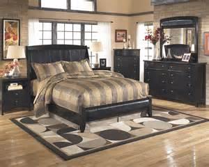 Master Bedroom Bed Sets Harmoney Aged Vintage Black Upholstered King Master Bed Bedroom Set Ebay