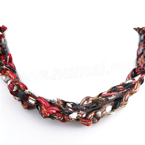 Handmade Ribbon - handmade ribbon necklace qm1670