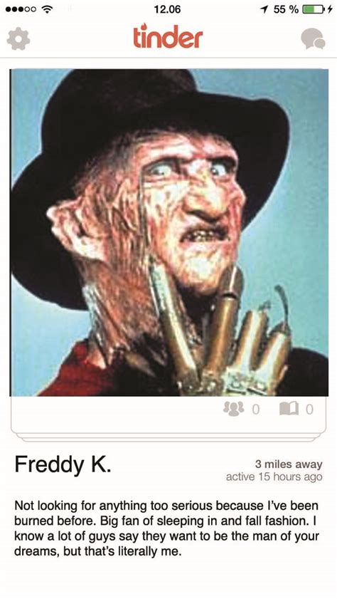 Find Tinder Find These Iconic Horror Villains On Tinder Bloody Disgusting
