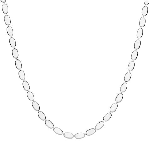 sterling silver 60cm 24 quot rice bead chain
