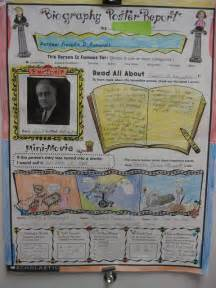 Biography poster and last day of school on pinterest