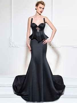 12868 Backless Dress scoop a line appliques evening dress tidebuy