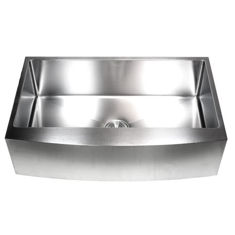Curved Kitchen Sink 36 Inch Stainless Steel Curved Front Farm Apron Single Bowl Kitchen Sink 15mm Radius Design