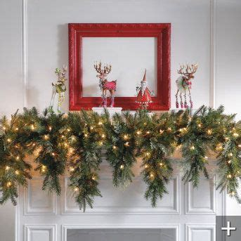 lighted garland for mantle garlands christmas garlands and christmas on pinterest