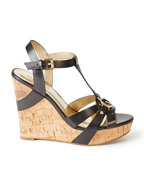 guess s tehra wedge sandals ebay