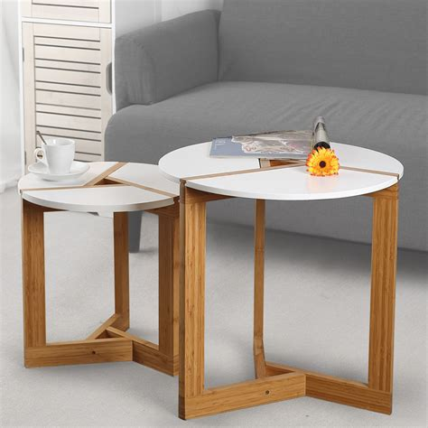 white tables for living room lanskaya creative modern bamboo coffee table side table