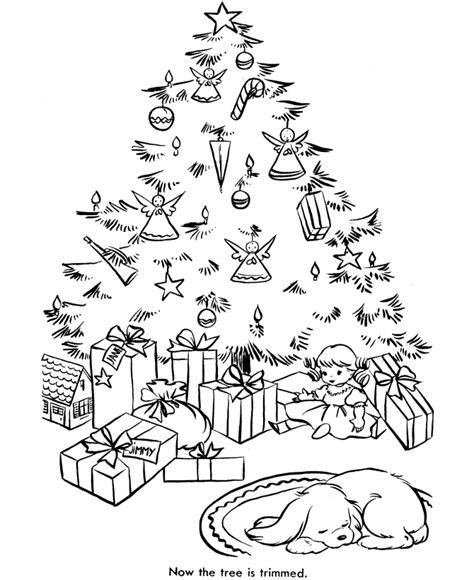 bluebonkers christmas tree coloring pages 1