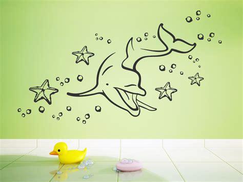 Wandtattoo Kinderzimmer Delfin by Wandtattoo Delphin Welt F 252 Rs Babyzimmer Wandtattoo
