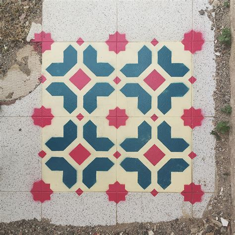tile paint spray new spray painted tile floor patterns in abandoned spaces