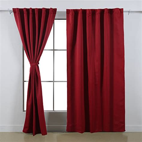 red curtains for bedroom starlite gardens deconovo rod pocket curtains solid color thermal insulated