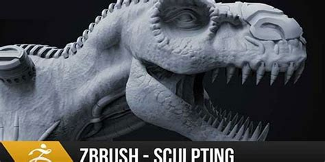 zbrush tutorial t rex zbrush sculpting tutorial organic and hard surface t rex