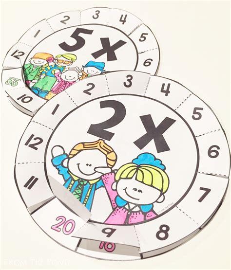 wheels activity table multiplication fact activities flip flap wheels times