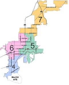 florida city map boundaries city council district seven city of ta