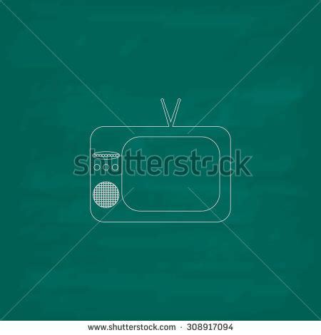 Blue Outline On Tv by Stock Images Royalty Free Images Vectors