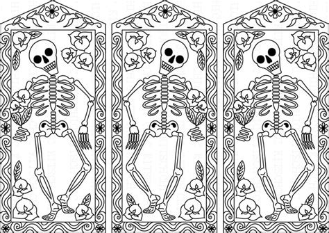 1000 Images About Day Of The Dead Color Pages On Day Of The Dead Altar Coloring Pages
