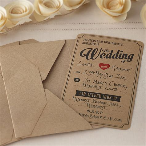 vintage wedding invitations wedding invitations kit templates 2015