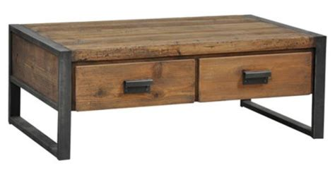 Mission Style Coffee Table With Drawers Featuring A Rustic Mission Style Silhouette This Distressed Coffee Table Is Highlighted By