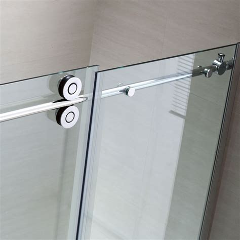 Ove Shower Door Shop Ove Decors Sydney 56 In To 58 In W X 78 7 In H Frameless Sliding Shower Door At Lowes