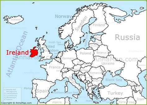 ireland on the europe map annamap