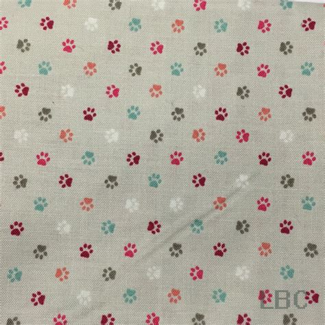 grey patterned cotton fabric bbf1456 cat paws grey patterned cotton fabric