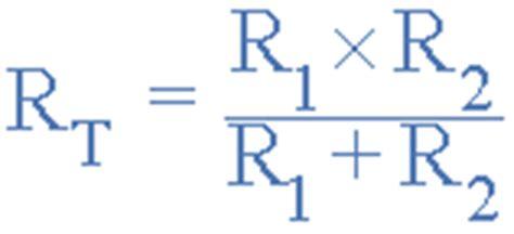 resistors formula resistors in parallel parallel connected resistors