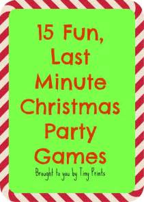 Games To Play At A Christmas Party - fun last minute christmas party games