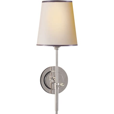 Brien Sconce visual comfort tob2002pn np st o brien bryant sconce in polished nickel with