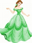 Disney Princess Belle Dress Cartoon