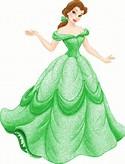 Disney Princess Belle Green Dress