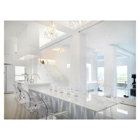 gap interiors marble dining table with clear plastic