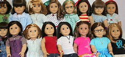 American Girl Dolls Together