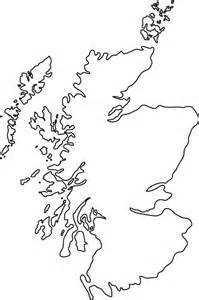 Blank Map Of Scotland For Kids  sketch template